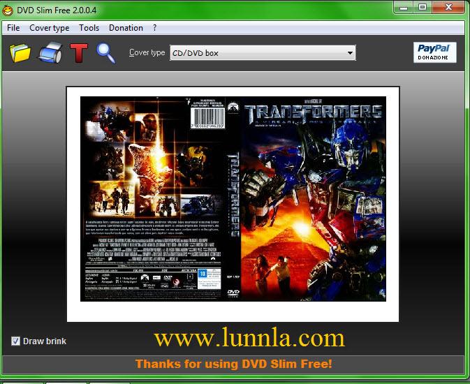 โปรแกรม print ปก CD/DVD