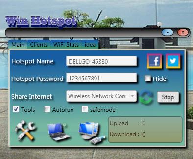 โปรแกรมจำลองคอมเป็น wifi hotspot