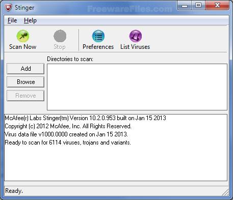 McAfee AVERT Stinger 12.0.0.545