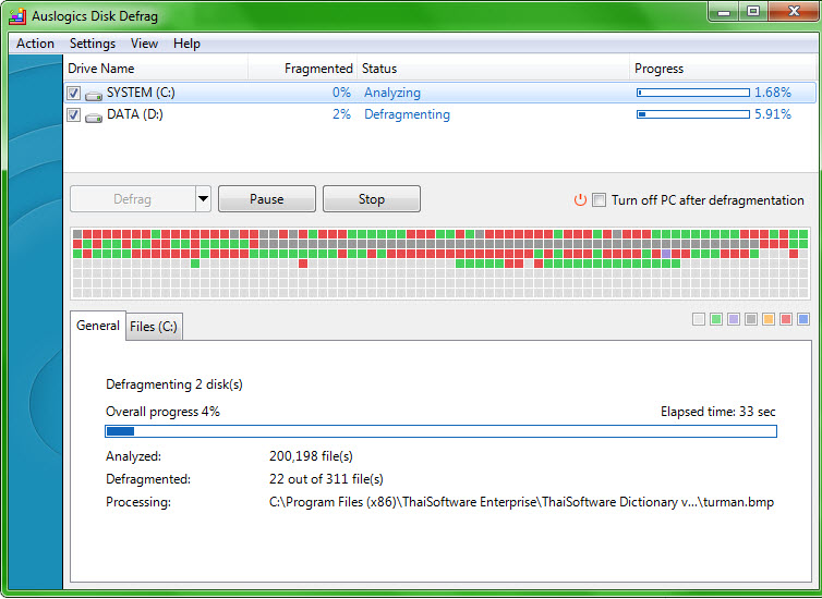 Auslogics Disk Defrag Portable 4.2