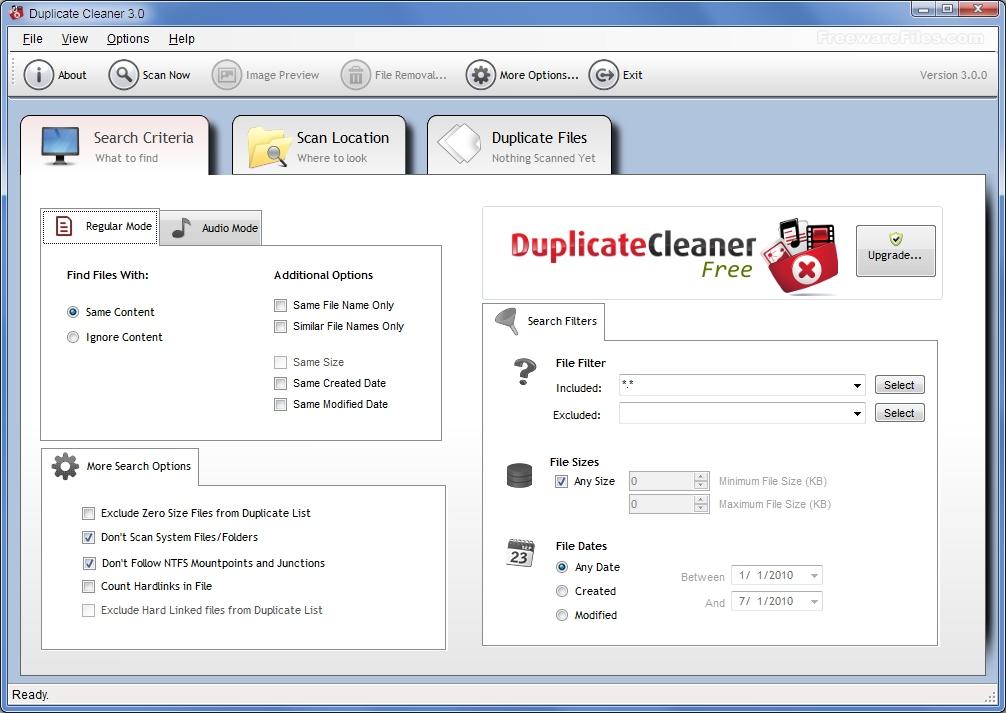 Duplicate Cleaner Free 3.2.1