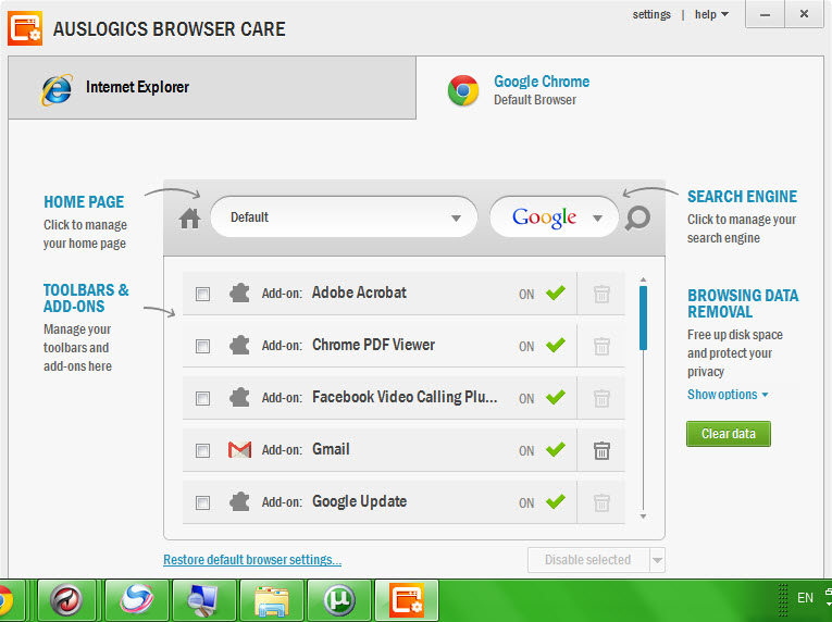 Auslogics Browser Care 1.4