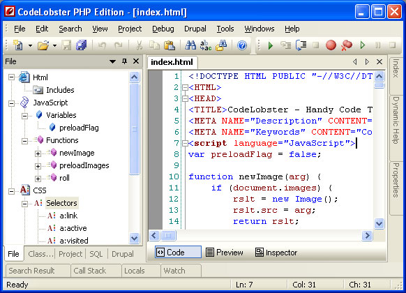 Codelobster PHP Edition FREE 5.0.4