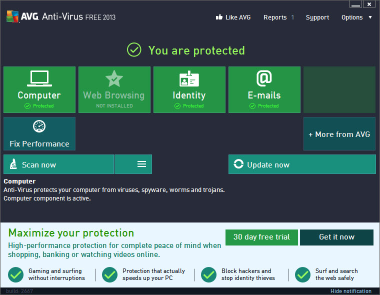 AVG AntiVirus Free 2015 14.0 Build 5577a8546