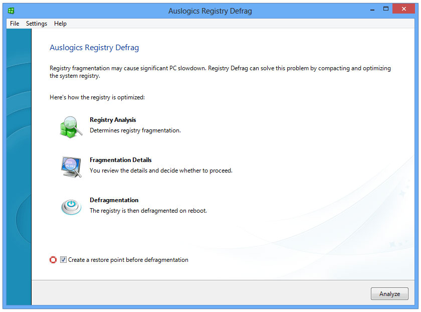 Auslogics Registry Defrag 8.0
