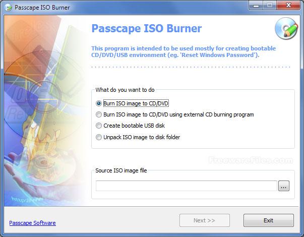 Passcape ISO Burner 1.4