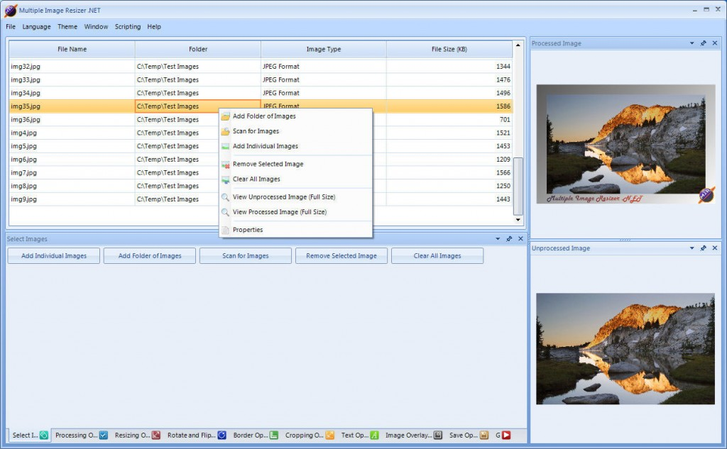 Multiple Image Resizer .NET 4.5.2
