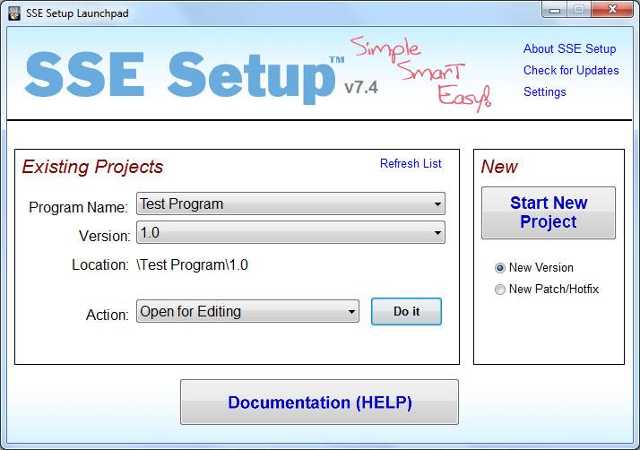 SSE Setup 7.6
