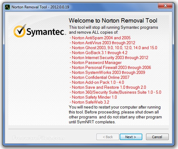 Norton Removal Tool  22.5
