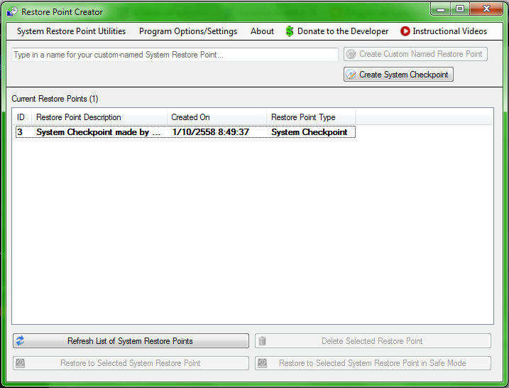 Restore Point Creator Portable 3.3.4