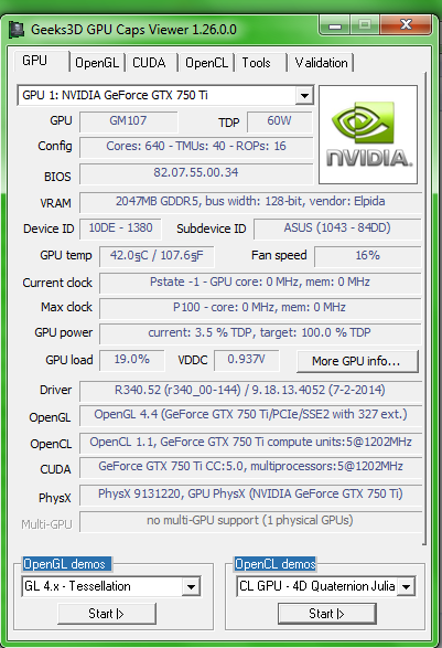 GPU Caps Viewer 1.30
